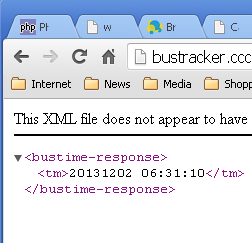 BusTrackerXmlInBrowser